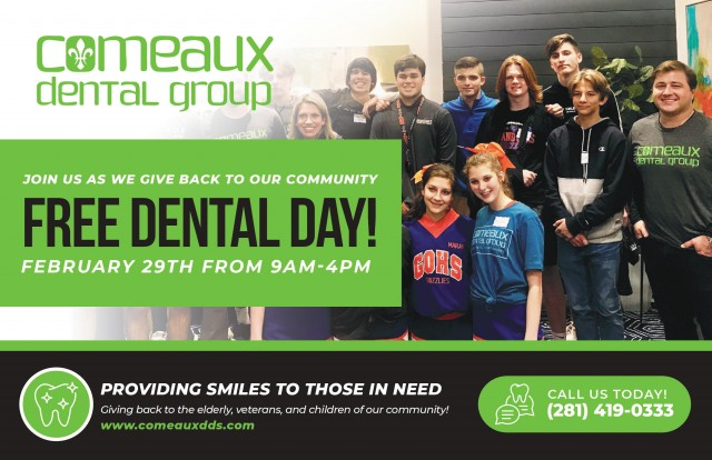 Save the Date: Free Dental Day February 29th 2020